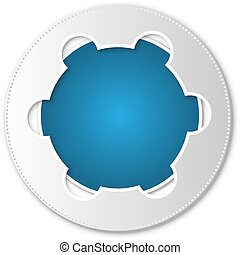 blue abstract icon