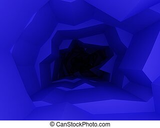 blue abstract interior space