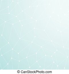 Blue abstract light background. Geometric concept.