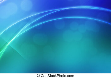 Blue Abstract Light Waves Backdrop