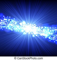 Blue abstract lights background