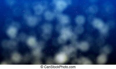 Blue Abstract Lights bokeh background loop