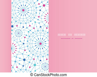 Blue abstract line art circles horizontal seamless pattern background