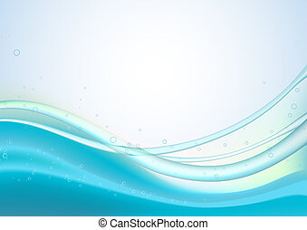Abstract lines background - Blue Abstract lines background: ...