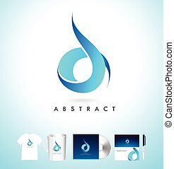 Blue Abstract Logo. Vector Blue Abstract Design.