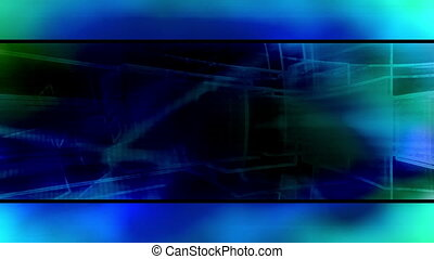 Blue abstract loop template style