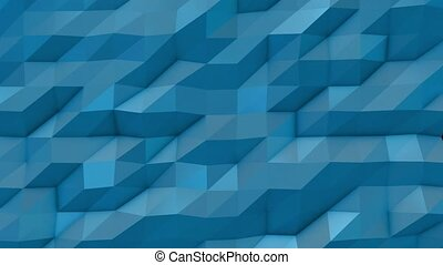 Blue abstract low poly triangle background