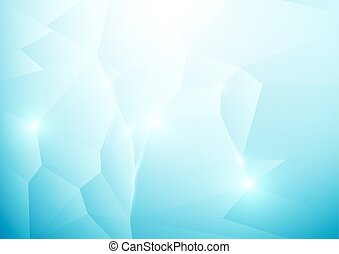 Blue abstract low polygonal background