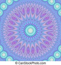 Blue abstract mandala fractal design background