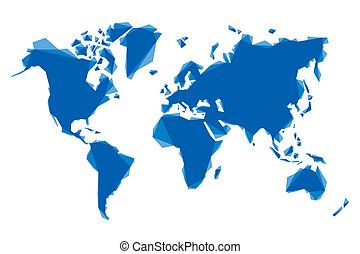 blue abstract map of the world