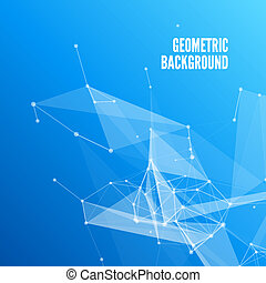 Blue Abstract Mesh Background with Circles, Lines and Shapes Design Layout for Your Business