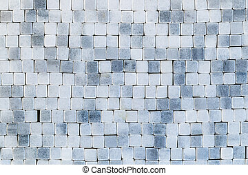 Blue abstract mosaic background, wall, floor tile