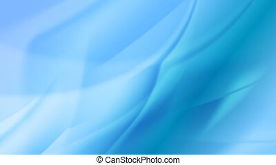 Blue abstract moving flowing waves video animation
