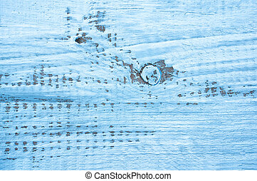 Blue abstract painted background with texture of the Board.