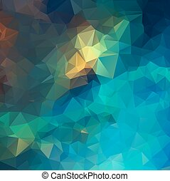 Blue abstract polygon pattern