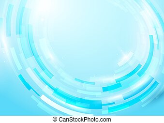 Blue abstract rectangles shiny hi-tech motion geometric...