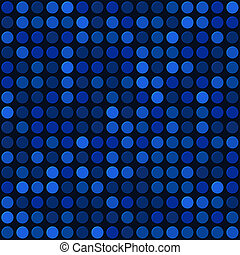 Blue Abstract Seamless Background with Bubbles Spot. Vector