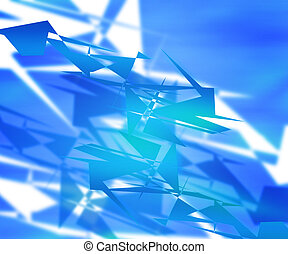 Blue Abstract Shapes Background