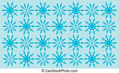 Blue abstract shapes pattern