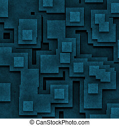 blue abstract square background
