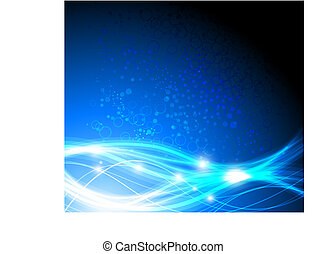 Blue abstract stylish fantasy background