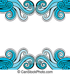 Blue abstract swirl background