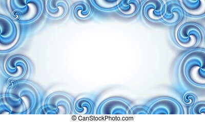 Blue abstract swirl shapes video animation