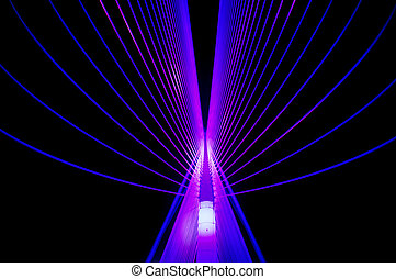 Blue abstract symmetrical