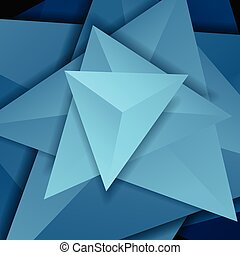 Blue abstract tech 3d polygonal shapes concept background