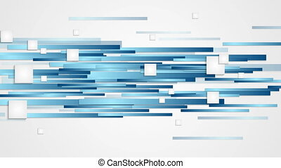 Blue abstract tech geometric motion design. Video animation...