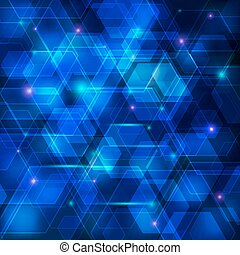 Blue abstract techno background