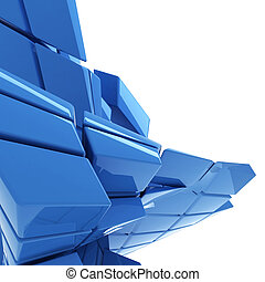 blue abstract technology background with copy space