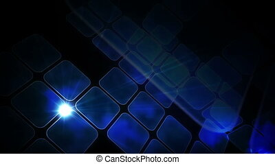 Blue abstract tiles