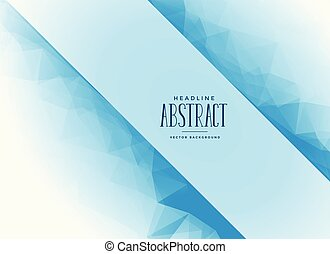 blue abstract triangle background with text space