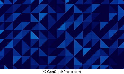 Blue abstract triangles looping BG