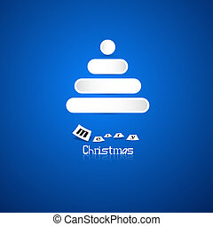 Blue Abstract Vector Merry Christmas Background