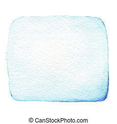Blue Abstract watercolor ink spot isolated on white background. Hand drawn color splashing
