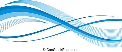 blue abstract wave illustration