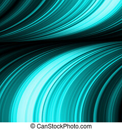 Blue abstract waves on a black background. EPS 8