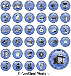 Blue account buttons