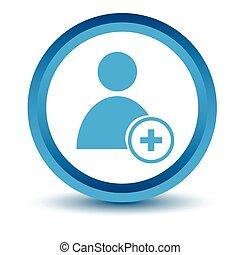 Blue add user icon