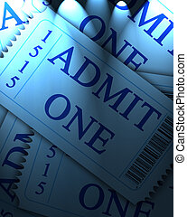 admit one ticket - blue admit one ticket collection with...