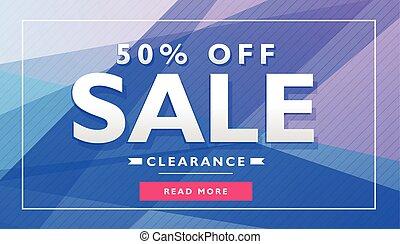 blue advertising banner poster voucher design template