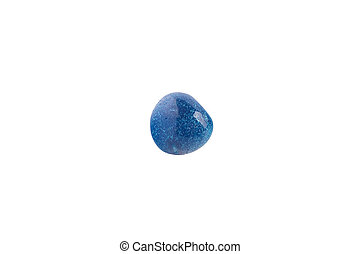 Blue agate from Brazil isolated