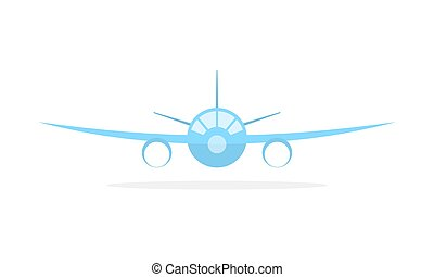 Blue aircraft icon. Vector illustration.