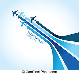 blue airplanes