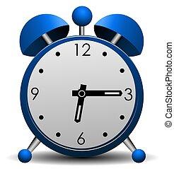 Blue Alarm Clock Illustration - Illustration of a 3d...