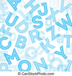 Blue alphabet background