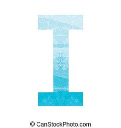 Blue alphabet I