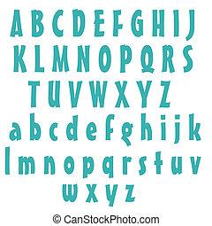 Blue Alphabet Letters